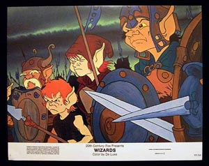 WIZARDS Movie Poster 1977 Ralph Bakshi 8 x 10 US Lobby Card / Still 1