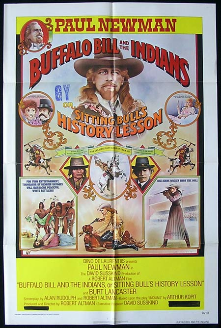BUFFALO BILL & THE INDIANS One sheet Movie Poster Robert Altman Paul Newman