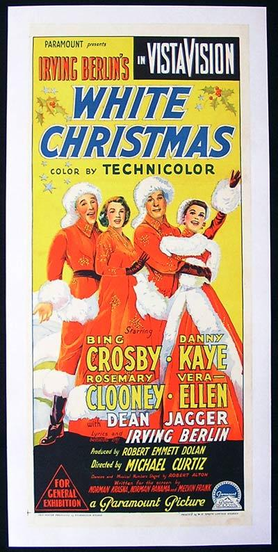 WHITE CHRISTMAS Daybill Movie Poster 1954 Bing Crosby Richardson ...