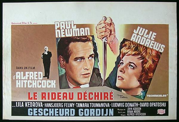 TORN CURTAIN '66-Hitchcock-Julie Andrews-RARE BELGIAN poster