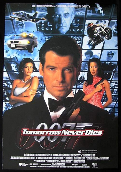 TOMORROW NEVER DIES One sheet Movie Poster DS 1999 James Bond 007