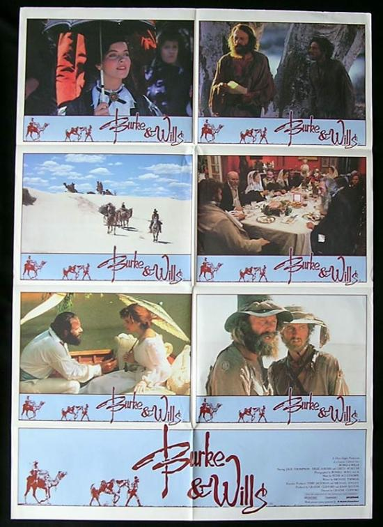 BURKE AND WILLS 1985 Jack Thompson Scaachi PHOTO SHEET Movie poster