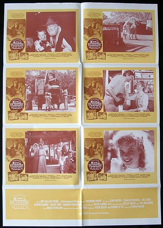 BUSHFIRE MOON 1987 Miracle Down Under George Miller PHOTO SHEET poster
