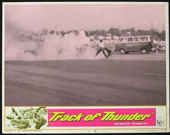 TRACK OF THUNDER 1967 Motor Racing US Lobby Card 3