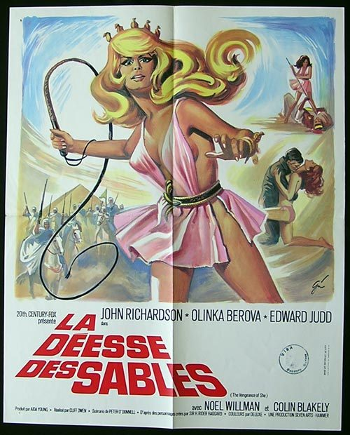 VENGEANCE OF SHE Movie Poster 1968 Hammer Horror RARE French