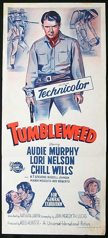 Tumbleweed Movie Poster Audie Murphy Chill Wills