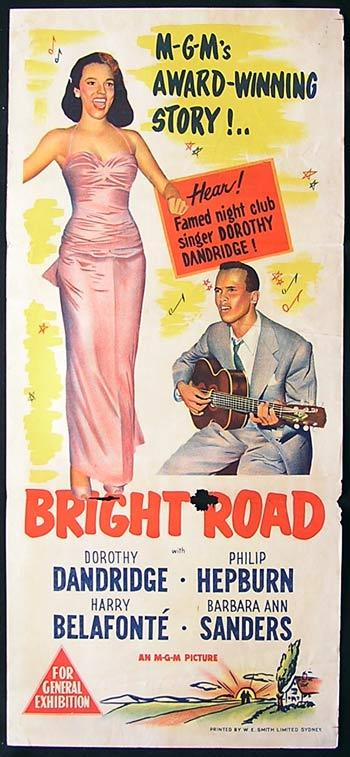 BRIGHT ROAD Movie Poster 1957 Dorothy Dandridge Australian Daybill