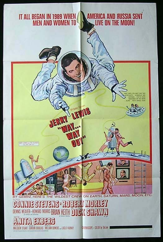 WAY WAY OUT Movie Poster 1966 Jerry Lewis US One sheet