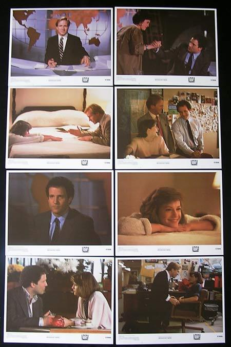 BROADCAST NEWS Lobby card Set 1987 Holly Hunter William Hurt