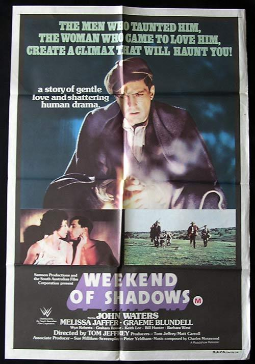 WEEKEND OF SHADOWS Movie poster 1978 John Waters Australian One sheet