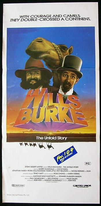 WILLS AND BURKE Movie Poster 1985 Garry McDonald daybill