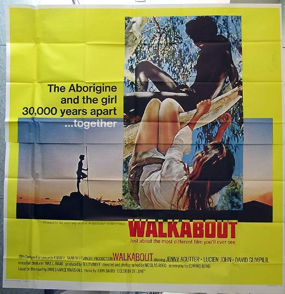 WALKABOUT Rare US SIX SHEET Movie poster