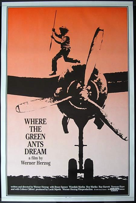 WHERE THE GREEN ANTS DREAM Ray Barrett Bruce Spence Rare US One Sheet Movie Poster