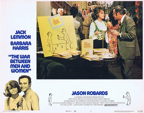 WAR BETWEEN MEN AND WOMEN 1972 Jack Lemmon Barbara Harris US Lobby card 7