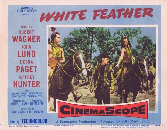 WHITE FEATHER Lobby Card 3 1955 Robert Wagner