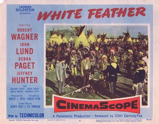 WHITE FEATHER Lobby Card 5 1955 Robert Wagner