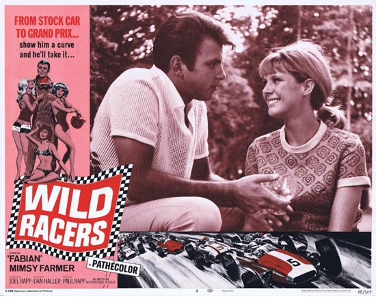 WILD RACERS Lobby card 4 1968 Fabian Grand Prix Motor Racing
