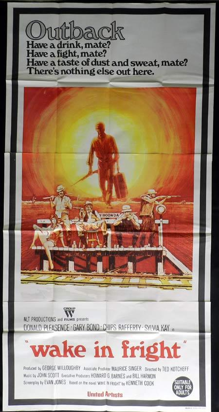 WAKE IN FRIGHT aka OUTBACK 3 sheet movie poster Chips Rafferty