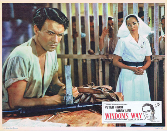 WINDOMS WAY 1957 Rare Peter Finch Lobby Card 2