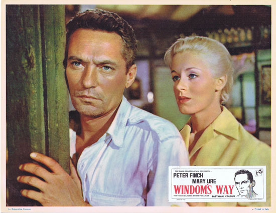 WINDOMS WAY 1957 Rare Peter Finch Lobby Card 5