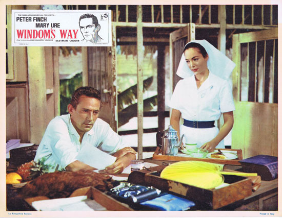 WINDOMS WAY 1957 Rare Peter Finch Lobby Card 8
