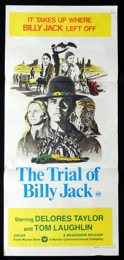 TRIAL OF BILLY JACK Tom Laughlin VINTAGE Daybill Movie poster
