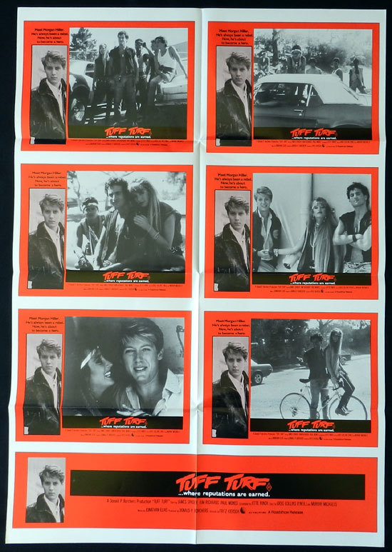 TUFF TURF 1985 Photo Sheet Movie poster James Spader Kim Richards ORIGINAL