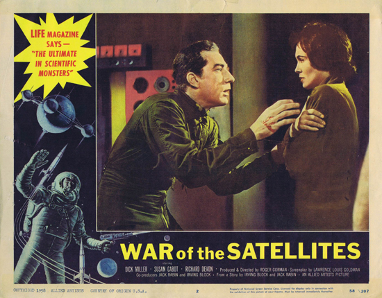 WAR OF THE SATELLITES Lobby Card 2 1958 Science Fiction Sci Fi