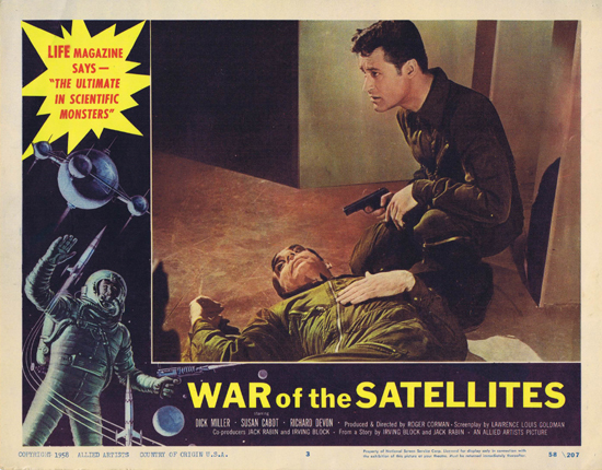 WAR OF THE SATELLITES Lobby Card 3 1958 Science Fiction Sci Fi