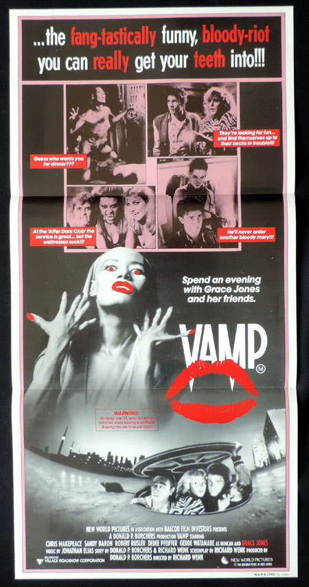 VAMP Original Daybill poster 1986 Grace Jones VAMPIRE