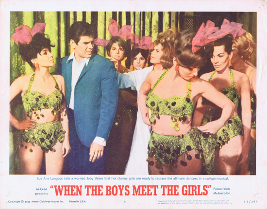 WHEN THE BOYS MEET THE GIRLS Lobby Card 6 Sue Anne Langdon Joby Baker