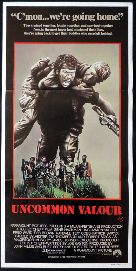 UNCOMMON VALOUR Gene Hackman ORIGINAL Daybill Movie poster