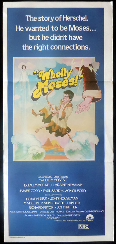 WHOLLY MOSES Original Daybill Movie poster Dudley Moore