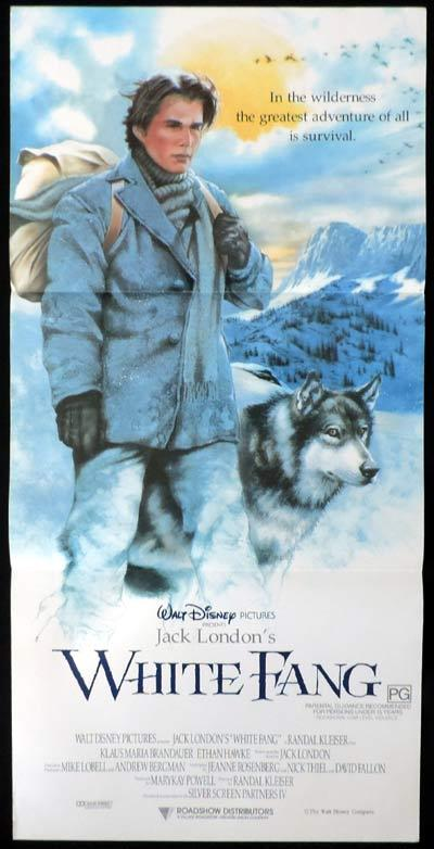 WHITE FANG Daybill Movie poster Disney
