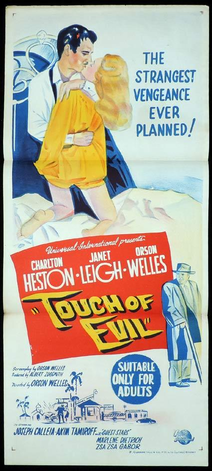 TOUCH OF EVIL Daybill Movie Poster Orson Welles Charlton Heston
