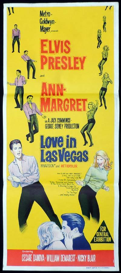 VIVA LAS VEGAS aka LOVE IN LAS VEGAS Original Daybill Movie Poster Elvis Presley