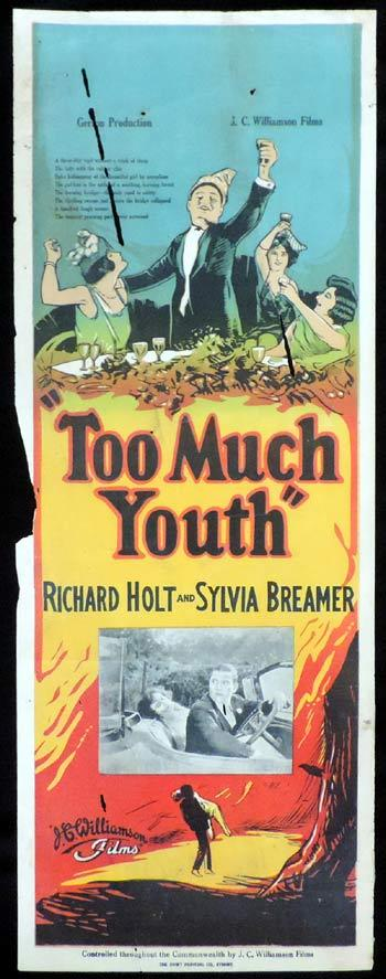 TOO MUCH YOUTH Long Daybill Movie poster 1925 Ashton Dearholt