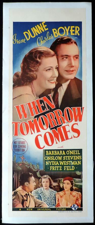 WHEN TOMORROW COMES Long Daybill Movie poster 1939 Charles Boyer Irence Dunne