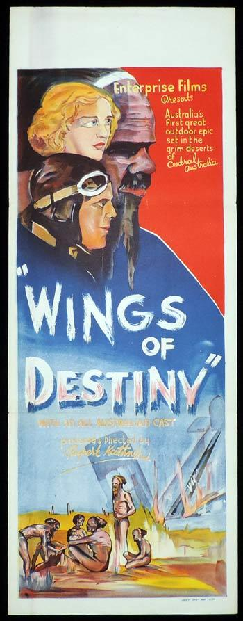 WINGS OF DESTINY Long Daybill Movie poster 1940 Rupert Kathner