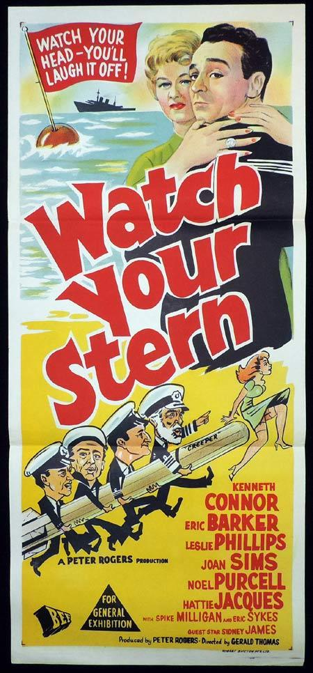 WATCH YOUR STERN Original Daybill Movie Poster Kenneth Connor Carry On