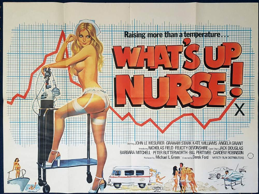 WHAT'S UP NURSE British Quad Movie poster TOM CHANTRELL artwork