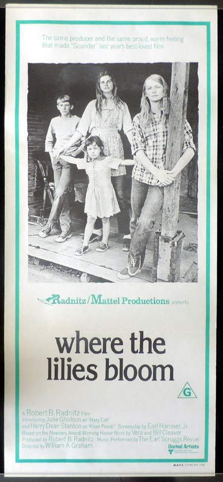 WHERE THE LILLIES BLOOM Original Daybill Movie poster Julie Gholson