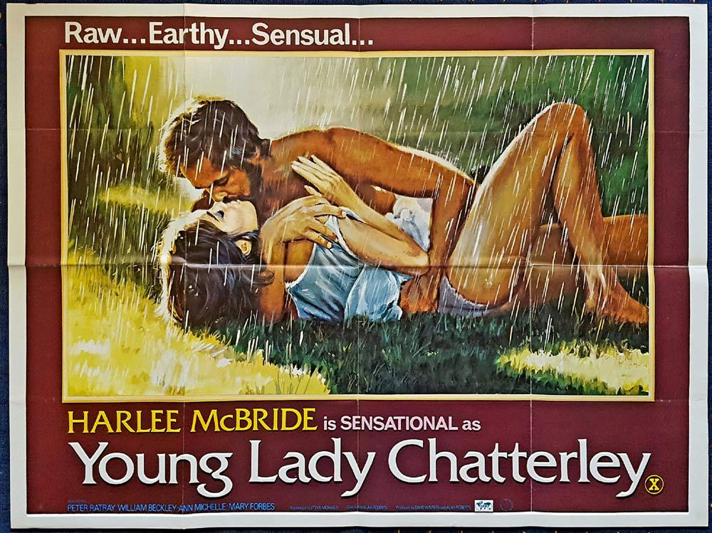 YOUNG LADY CHATTERLEY British Quad Movie poster Harlee McBride