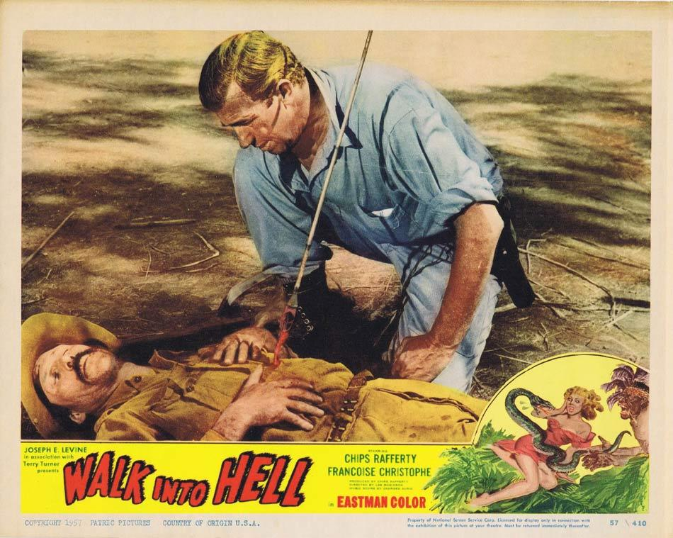 WALK INTO HELL aka WALK INTO PARADISE Lobby Card 7 Chips Rafferty