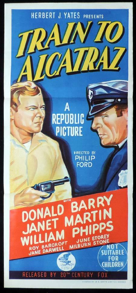 TRAIN TO ALCATRAZ Original Daybill Movie Poster Don 'Red' Barry Film Noir
