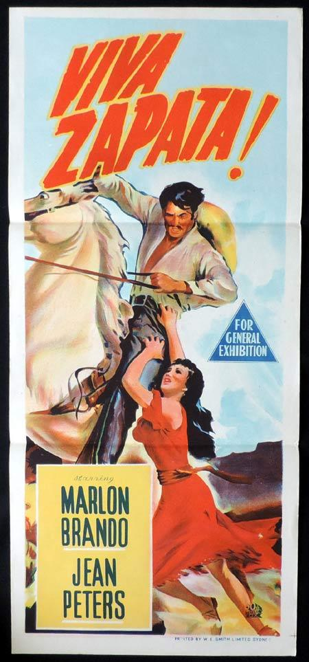 VIVA ZAPATA Original Daybill Movie Poster Marlon Brando Jean Peters