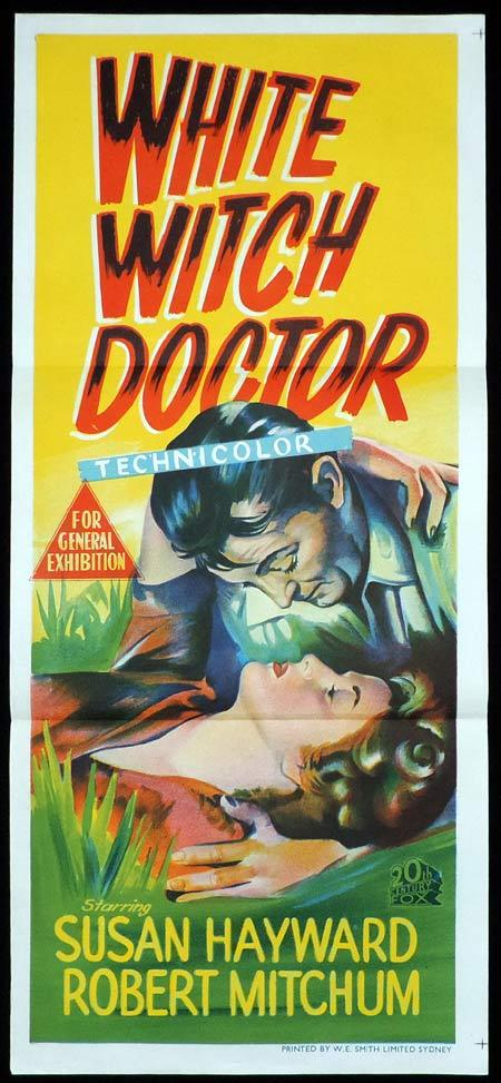 WHITE WITCH DOCTOR Original Daybill Movie Poster Robert Mitchum Robert Mitchum