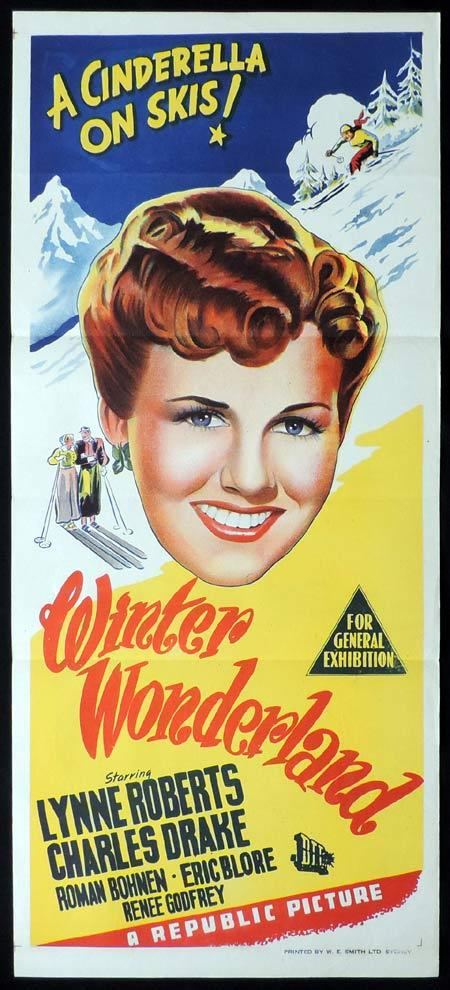 WINTER WONDERLAND Original Daybill Movie Poster Cinderella on Skis
