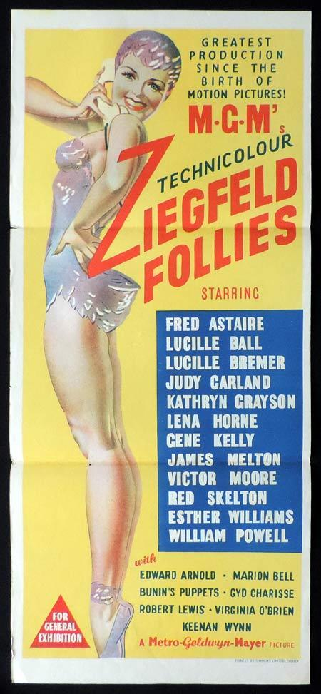 ZIEGFELD FOLLIES Original Daybill Movie Poster Fred Astaire Lucille Ball