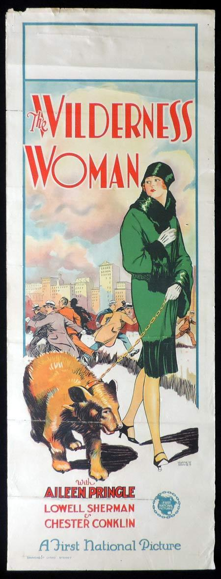 WILDERNESS WOMAN 1926 Original Daybill Movie Poster WYNNE W.DAVIES ART Richardson Studio Aileen Pringle Lowell Sherman Chester Conklin